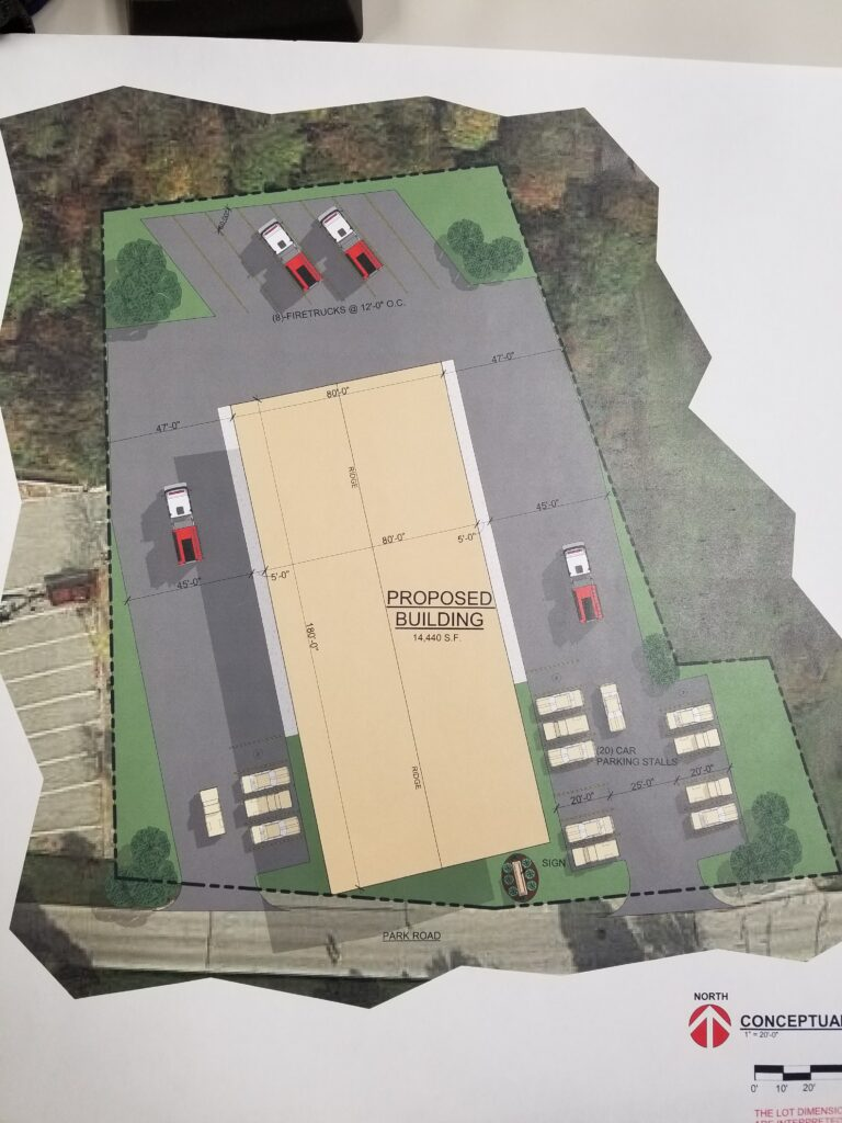 Proposed Fire Station at 2404 Park Rd